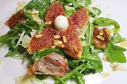 Warme Feigen auf Rucola mit Mozzarella 5