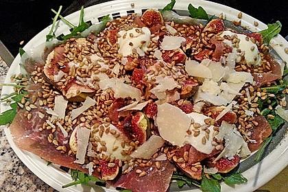 Warme Feigen auf Rucola mit Mozzarella 7