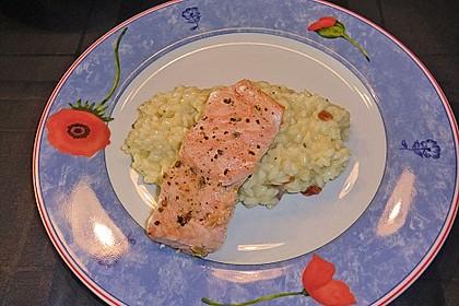 Gorgonzola - Risotto mit Lachs 1