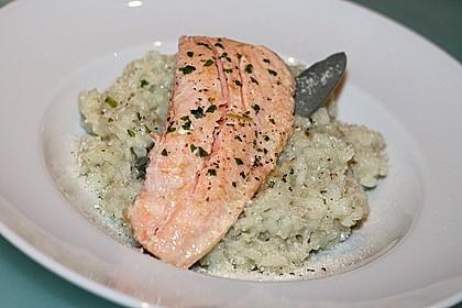 Gorgonzola - Risotto mit Lachs