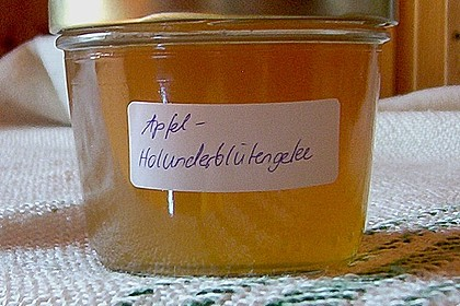 Holunderblüten - Apfel Gelee 9
