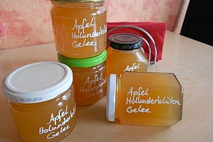 Holunderblüten - Apfel Gelee 5