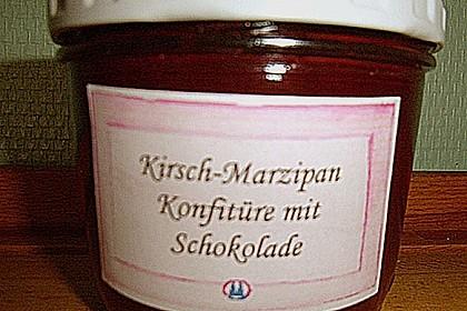 Sauerkirsch - Marzipan Konfitüre mit dunkler Schokolade 4