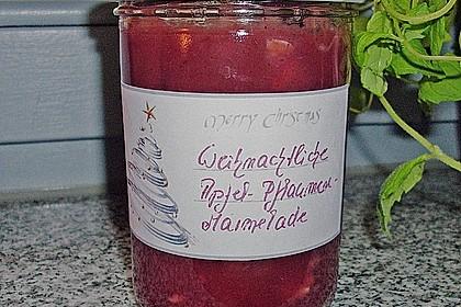 Weihnachtliche Apfel - Pflaumen - Marmelade 5