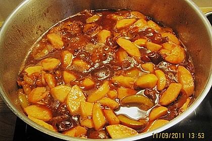 Weihnachtliche Apfel - Pflaumen - Marmelade 10