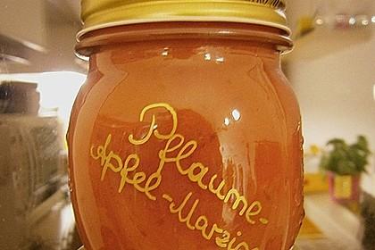 Weihnachtliche Apfel - Pflaumen - Marmelade 6