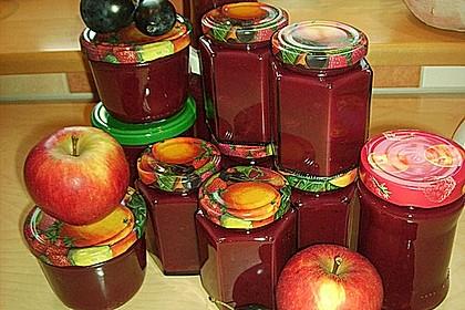 Weihnachtliche Apfel - Pflaumen - Marmelade 3