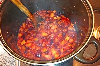 Weihnachtliche Apfel - Pflaumen - Marmelade 9