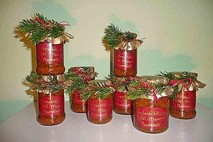 Weihnachtliche Apfel - Pflaumen - Marmelade 4