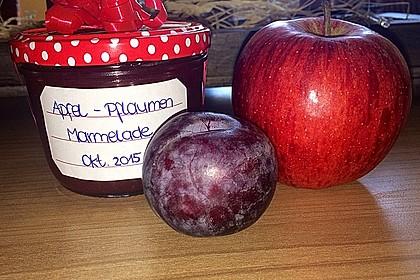 Weihnachtliche Apfel - Pflaumen - Marmelade 0