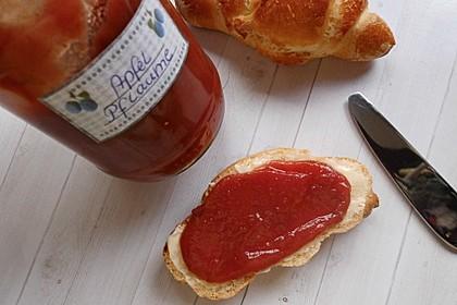 Weihnachtliche Apfel - Pflaumen - Marmelade 7