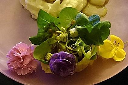 Feldsalat im Parmesankörbchen 3