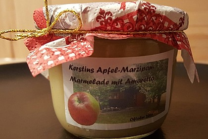 Apfel - Marzipan - Marmelade mit Amaretto 8