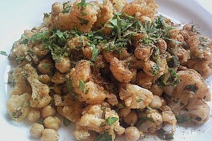 Blumenkohlsalat mit Kichererbsen 0