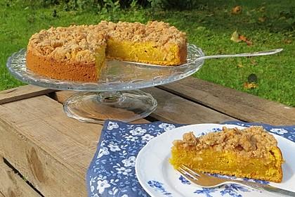 Kürbis Pie - Kuchen mit Walnuss - Streuseln 3