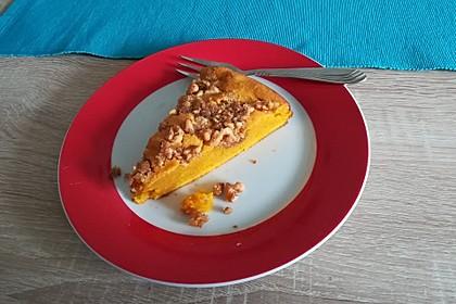 Kürbis Pie - Kuchen mit Walnuss - Streuseln 27