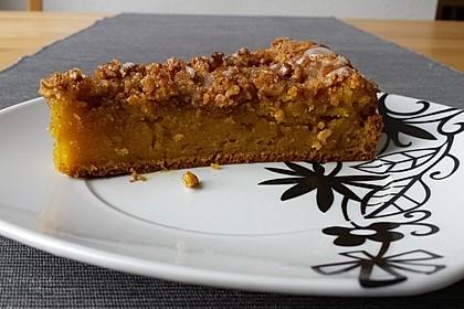 Kürbis Pie - Kuchen mit Walnuss - Streuseln 30