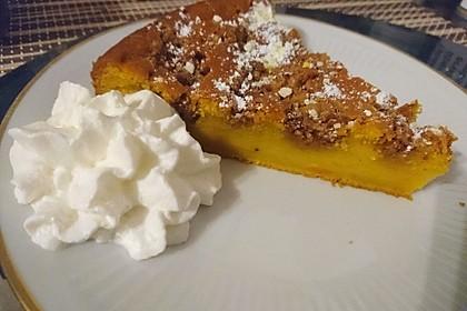 Kürbis Pie - Kuchen mit Walnuss - Streuseln 7