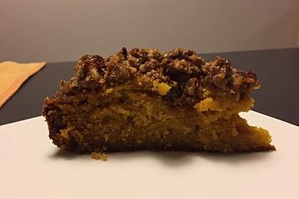 Kürbis Pie - Kuchen mit Walnuss - Streuseln 40