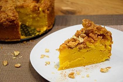 Kürbis Pie - Kuchen mit Walnuss - Streuseln 20