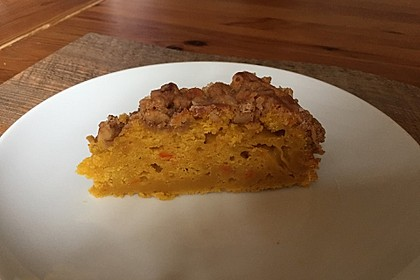 Kürbis Pie - Kuchen mit Walnuss - Streuseln 46