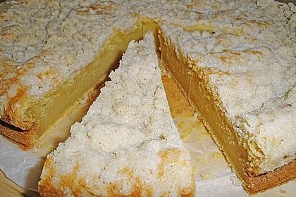 Kürbis Pie - Kuchen mit Walnuss - Streuseln 12