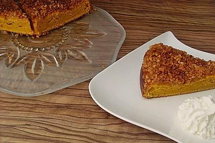 Kürbis Pie - Kuchen mit Walnuss - Streuseln 18