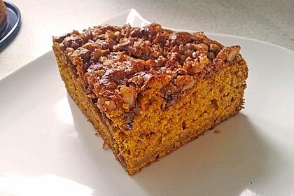 Kürbis Pie - Kuchen mit Walnuss - Streuseln 10