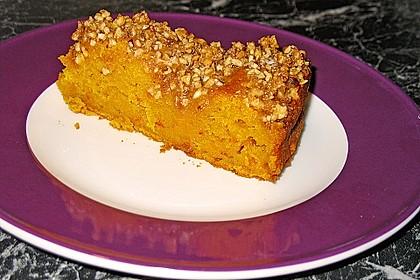 Kürbis Pie - Kuchen mit Walnuss - Streuseln 17