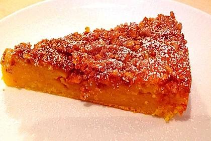 Kürbis Pie - Kuchen mit Walnuss - Streuseln 16