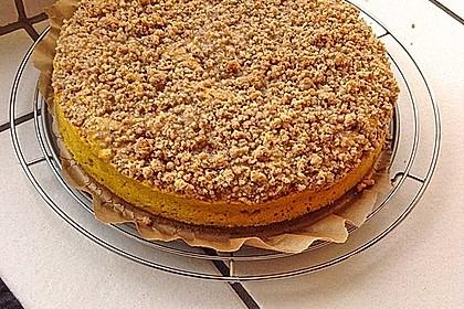 Kürbis Pie - Kuchen mit Walnuss - Streuseln 26
