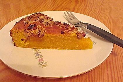 Kürbis Pie - Kuchen mit Walnuss - Streuseln 15