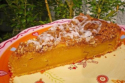 Kürbis Pie - Kuchen mit Walnuss - Streuseln 1