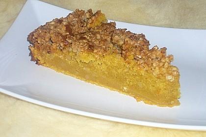 Kürbis Pie - Kuchen mit Walnuss - Streuseln 33