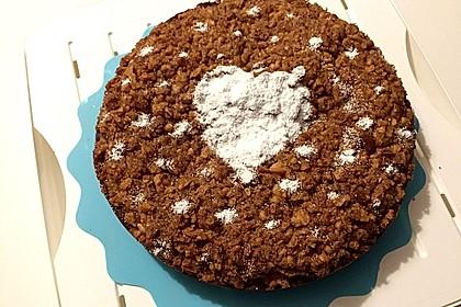 Kürbis Pie - Kuchen mit Walnuss - Streuseln 14