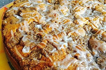 Kürbis Pie - Kuchen mit Walnuss - Streuseln 13