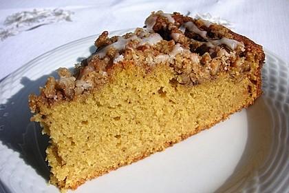 Kürbis Pie - Kuchen mit Walnuss - Streuseln 6