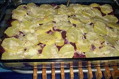 Gratin vom Rotkohl mit Kartoffelhaube 3