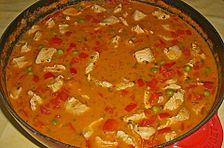 Puten - Gulasch mit Paprika und Rahm