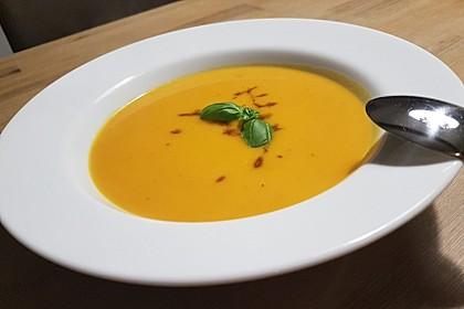 Kürbissuppe mit Ingwer und Kokos 3