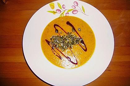 Kürbissuppe mit Ingwer und Kokos 22