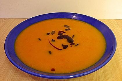 Kürbissuppe mit Ingwer und Kokos 37