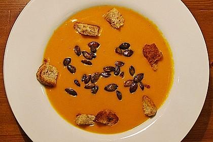 Kürbissuppe mit Ingwer und Kokos 10