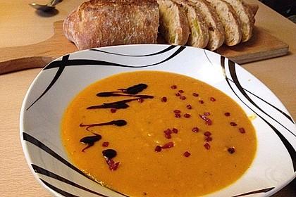Kürbissuppe mit Ingwer und Kokos 4