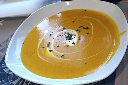 Kürbissuppe mit Ingwer und Kokos 34