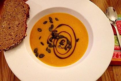 Kürbissuppe mit Ingwer und Kokos 2