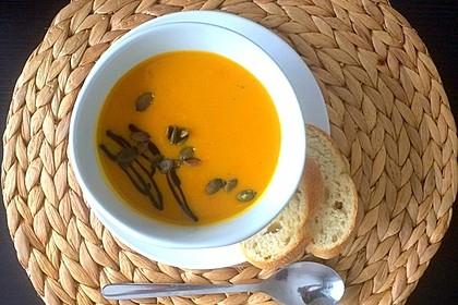 Kürbissuppe mit Ingwer und Kokos 1