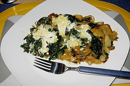 Kartoffel - Spinat - Auflauf 6