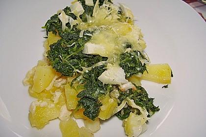 Kartoffel - Spinat - Auflauf 11