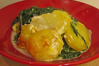 Kartoffel - Spinat - Auflauf 12